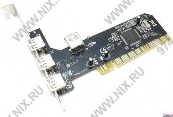 PCI to USB 2.0 3-port ext,1-port int