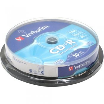 Диск CD-R Verbatim 700Mb 52x (10 шт.)на шпинделе<43437>