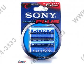 "Батарейка SONY Power Plus Stamina AM-2 (LR14) Size""C"", 1.5V, щелочной (alkaline)"