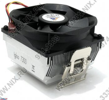 Для процессора Glacial Tech <Igloo 7300> Cooler for Socket 754/939/940 (27дБ, 2400об/мин, Al)