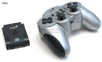 Геймпад Genius Wireless Blaze (Vibration, 14кн., 8 поз.перекл., 2 mini joysticks, ТОЛЬКО для PS/PS2/PSone)