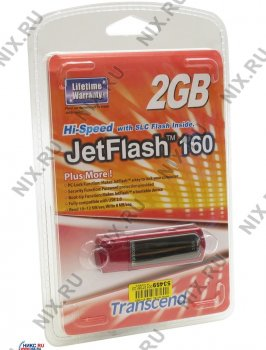 Накопитель USB Transcend <TS2GJF160> JetFlash160 USB2.0 Flash Drive 2Gb (RTL)