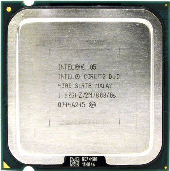 Процессор Intel Core 2 Duo E4300 1.8 ГГц/ 2Мб/ 800МГц 775-LGA (Ядро Conroe, 2 ядра)
