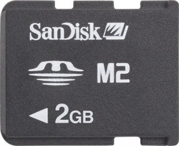 Карта памяти SanDisk Memory Stick Micro M2 2Gb + M2-->MS DUO Adapter