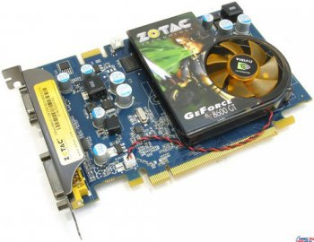 Видеокарта 512 Мб <PCI-E> DDR-2 ZOTAC <GeForce 8600GT> (RTL) +DVI+TV Out +SLI