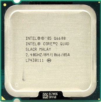 Процессор Intel Core 2 Quad Q6600 2.4 ГГц/ 8Мб/ 1066МГц 775-LGA 4 ядра, Kentsfield.
