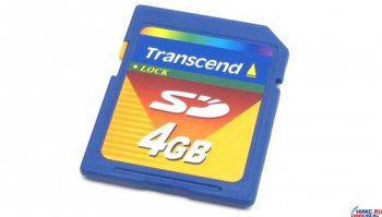 Карта памяти Transcend <TS4GSDC> SecureDigital (SD) Memory Card 4Gb