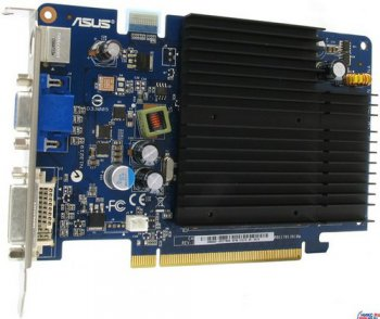 Видеокарта 512 Мб <PCI-E> DDR ASUSTeK EN8500GT SILENT MG/HTP (RTL) +DVI+TV Out+SLI <GeForce 8500GT>