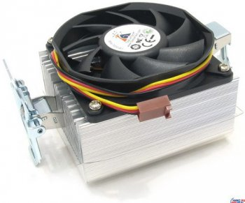 Для процессора Glacial Tech <Igloo 7222 (E)> Cooler for Socket AM2/754/939/940/F (26дБ, 3200об/мин, Al)