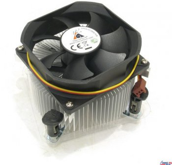 Для процессора Glacial Tech <Igloo 5062 CU Silent PP (1B1S)> Cooler for Socket 775 (20дБ, 2000об/мин, Cu+Al)