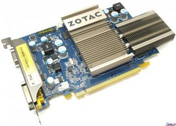 Видеокарта 256 Мб <PCI-E> DDR ZOTAC <GeForce 8500GT Zone Edit.> (RTL) +DVI+TV Out