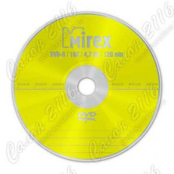 Диск DVD-R Mirex 4.7Gb 16x в конверте
