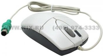 Мышь A4-Tech 2X Click Optical Mouse <OP-620D-White(1)> (RTL) PS/2 4btn+Roll
