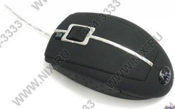 Мышь A4-Tech Glaser Mouse <X6-22D-Black(1)> (RTL) USB&PS/2 4but+Roll
