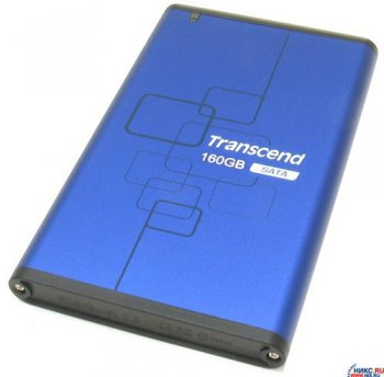 Внешний жесткий диск Transcend <TS160GSJ25B-S> Blue USB2.0 Portable HDD 160Gb EXT (RTL)