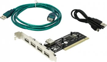 Контроллер Orient NC-612 (RTL) PCI, USB2.0, 4 port-ext, 1 port-int