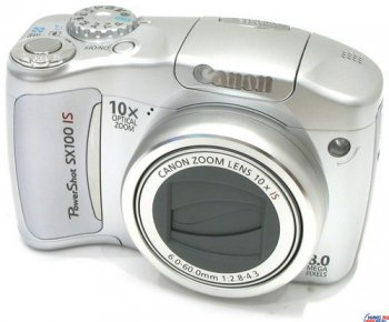 "Фотокамера Canon PowerShot SX100 IS <Silver> (8.0Mpx, mm, 10x, F, JPG, (8-32)Mb SD/SDHC/MMC, 2.5"", USB2.0, AV, 2xAA)"