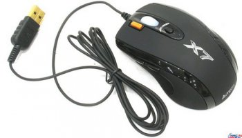 A4-Tech 3xFire Game Laser Mouse <X-750MF-Black(1)> (2500dpi) (RTL) USB&PS/2 7but+Roll