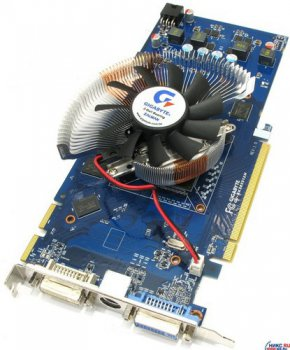 Видеокарта 512 Мб <PCI-E> DDR-3 Gigabyte GV-RX385512H (RTL) +DualDVI+TV Out <ATI Radeon HD3850>