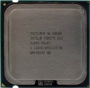 Процессор Intel Core 2 Duo E8500 3.16 ГГц/ 6Мб/ 1333МГц 775-LGA