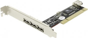 Контроллер STLab U-165 (RTL) PCI, USB 2.0, 3 port-ext , 1 port-int