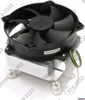 Для процессора Glacial Tech <Igloo 5073PWM PL (1B1S)> Cooler for Socket 775 (15-39дБ, 800-3200об/мин, Al)