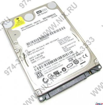 "Жесткий диск 120 Гб SATA150 Western Digital (1200BEVS) 2.5"" 5400 rpm 8Mb"