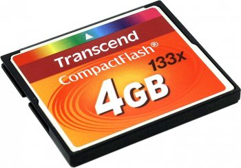 Карта памяти Transcend <TS4GCF133> CompactFlash Card 4Gb 133x