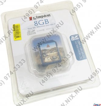 Карта памяти Kingston SecureDigital High Capacity (SDHC) Memory Card 8Gb Class6