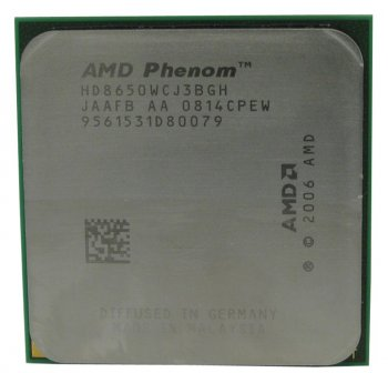 Процессор AMD Phenom X3 8650 (HD8650W) 1.5+2Мб/ 3600МГц Socket AM2+