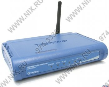 Маршрутизатор /точка доступа TRENDnet <TEW-452BRP> Wireless Firewall Router (4UTP 10/100Mbps, 1WAN, 802.11g, 108Mbps)