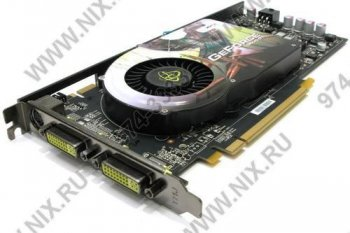 Видеокарта 512 Мб <PCI-E> DDR-3 XFX <GeForce 9600GT 670M> (RTL) DualDVI+TV Out+SLI <PV-T96G-YHQ4>