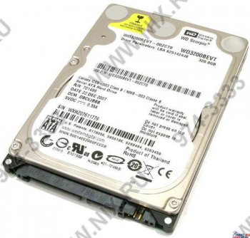 "Жесткий диск 320 Гб SATA-II 300 Western Digital Scorpio Blue <WD3200BEVT> 2.5"" 5400 rpm 8Mb"