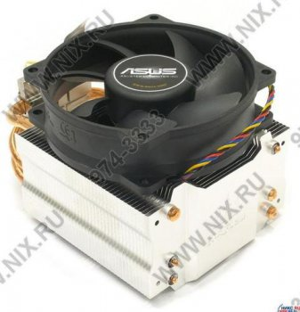 Для процессора ASUS <90-PN551AM> Triton 70 Cooler for Socket 775/754/939/940/AM2 (2300об/мин, 22дБ, Cu+Al+тепловые трубки)