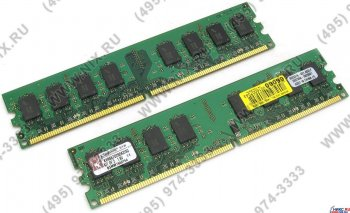 Оперативная память Kingston ValueRAM <KVR667D2N5K2/4G> DDR-II DIMM 4Gb KIT 2*2Gb <PC2-5300> CL5