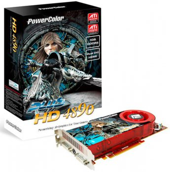 Видеокарта Power Color PCI-E ATI AX4890 1GBD5-UH AX4890 1024MB DDR5 PLUS DUAL-DVI/TVO RTL