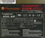 Блок питания Thermaltake <W0131RE> Toughpower 850W (24+8+4+4x6пин) Cable Management