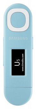 Плеер MP3 Samsung U5 2Gb голубой OGG WMA ASF FM Диктофон 20 ч аудио USB 2.0