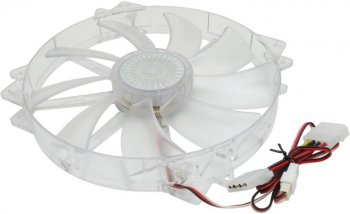 Вентилятор Cooler Master <R4-LUS-07AR-GP> Fan 200mm (SMART, Red LED, 200x200x30mm, 19дБ, 700об/мин)