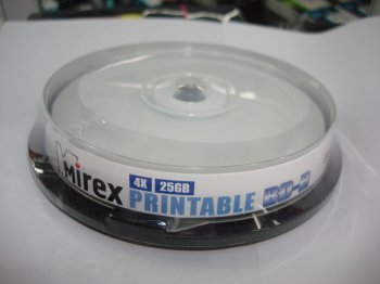 Диск DVD-R Mirex 4.7Gb 16x Printable (уп. 10 шт.) на шпинделе