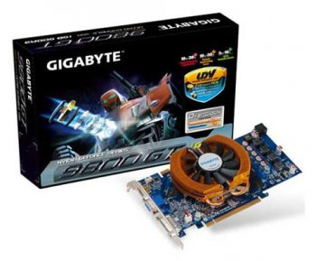 Видеокарта 1G Gigabyte PCI-E NV GV-N98TOC-1GI Super OC version GF9800GT 256bit DDR3 HDMI+DVI RTL
