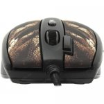 Мышь A4-Tech Game Laser Mouse <XL-750BH-Black-Brown> (3600dpi) (RTL)USB 7btn+Roll