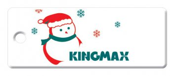 Накопитель USB Kingmax 16Gb X'mas Snow Man White