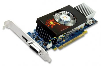 Видеокарта 1024 Мб PCI-E NV GTS250 256bit DDR3 SXS2501024D3L-NM Low Profile DVI+HDMI RT Sparkle