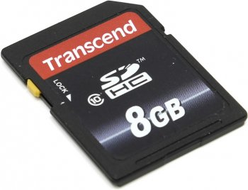 Карта памяти Transcend <TS8GSDHC10> SecureDigital High Capacity (SDHC) Memory Card 8Gb Class10