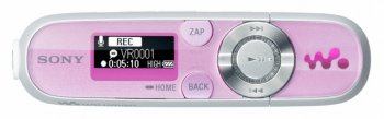 Плеер MP3 Sony NWZB143FP 4Gb pink