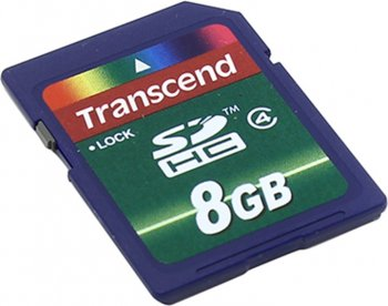 Карта памяти Transcend <TS8GSDHC4> SecureDigital High Capacity (SDHC) MemoryCard 8Gb Class4