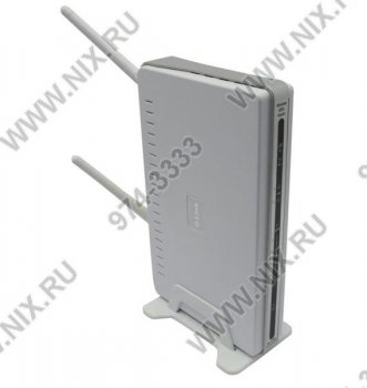 Маршрутизатор ADSL D-Link <DSL-2760U> Wireless N ADSL2+ Router (4UTP 10/100Mbps, 802.11b/g/n, 2xUSB2.0, 300Mbps)