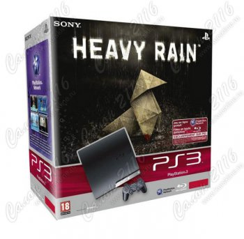 "Игровая приставка Sony Playstation 3 Slim 320Gb + игра ""Heavy Rain"" (рус. вер.)"