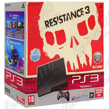 "Игровая приставка Sony Playstation 3 Slim 320Gb + игра ""Resistace 3"""